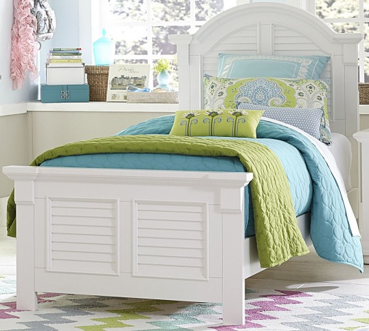 Summer House Oyster White Twin Panel Bed