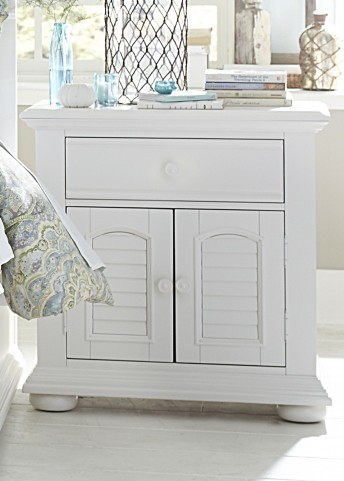 Summer House Oyster White 1 Drawer Nightstand
