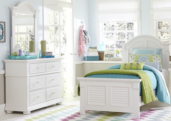 Summer House Oyster White Youth Panel Bedroom Set