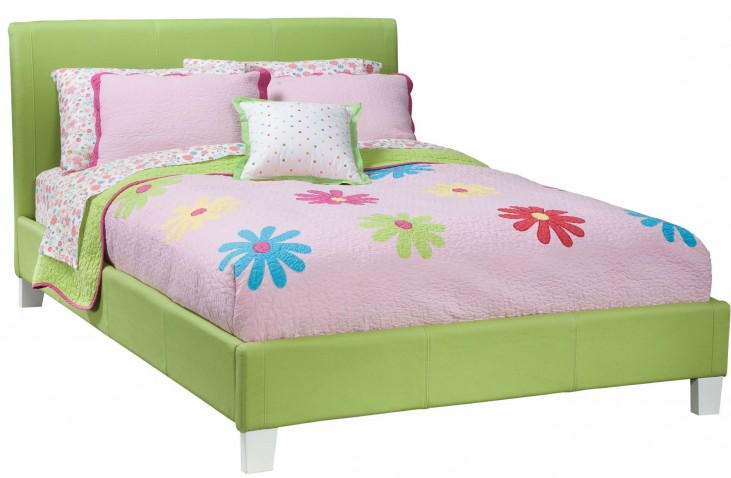 Fantasia Green Full Upholstered Bed
