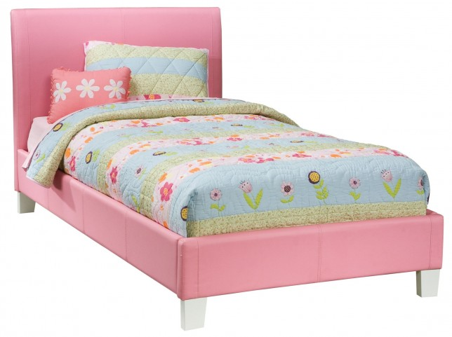 Fantasia Pink Twin Upholstered Bed