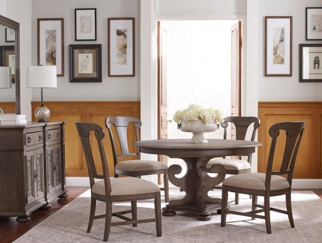 Greyson Grant Round Pedestal Extendable Dining Room Set