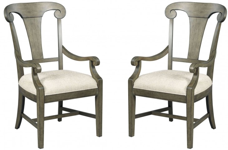Greyson Fulton Splat Back Arm Chair Set of 2