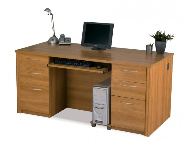 Embassy Executive Desk Kit In Cappuccino Cherry