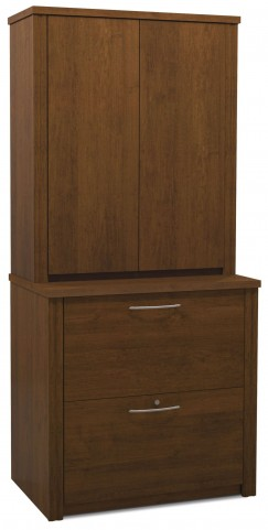 "Embassy Tuscany Brown 30"" Lateral File with Cabinet"