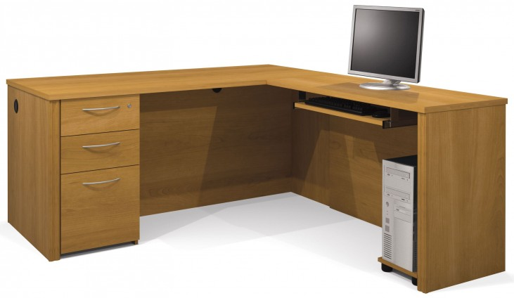 Embassy Cappuccino Cherry L-Shaped Workstation