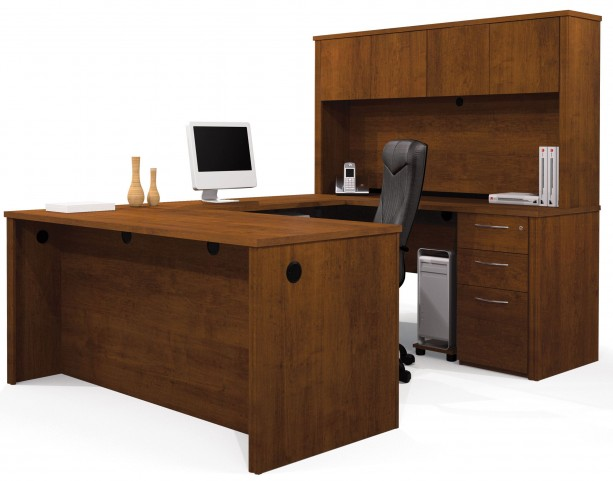 Embassy Tuscany Brown U-Shaped Workstation
