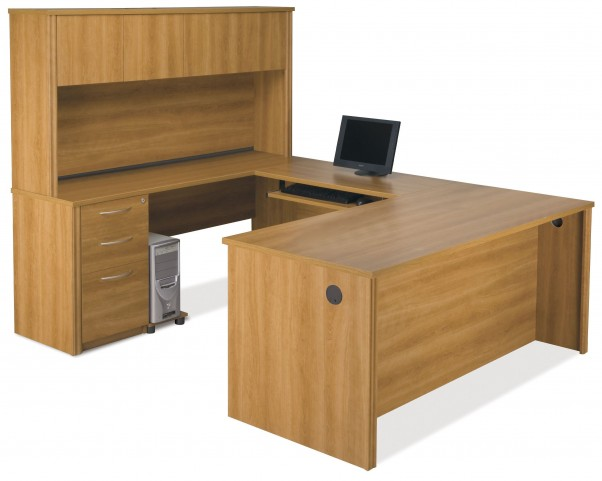 Embassy Cappuccino Cherry U-Shaped Workstation