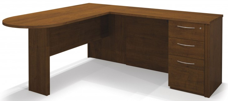 Embassy Tuscany Brown L-Shaped Workstation