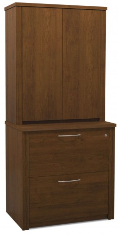 "Embassy Tuscany Brown 36"" Lateral File with Cabinet"