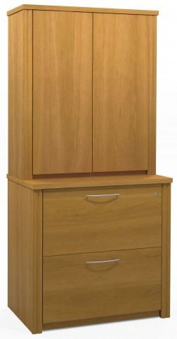 "Embassy Cappuccino Cherry 36"" Lateral file with Cabinet"
