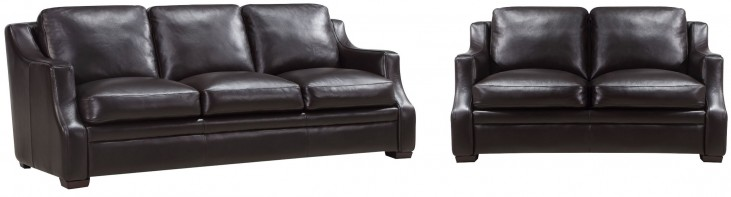 Grandview Espresso Leather Living Room Set