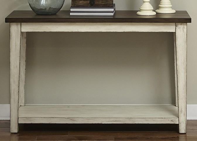 Saddlebrook Antique White Sofa Table