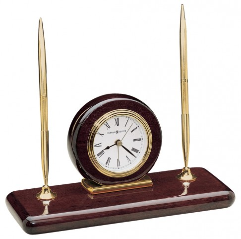 Rosewood Desk Set Mantle Clock