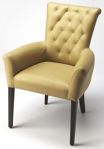 Simona Cream Leather Accent Chair