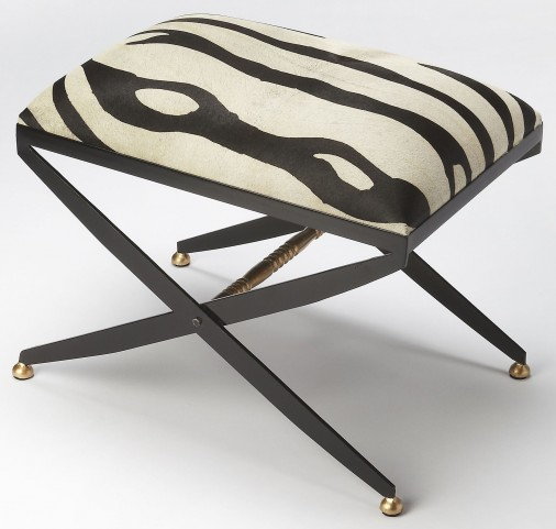 Liddy Hair-On-Hide Stool