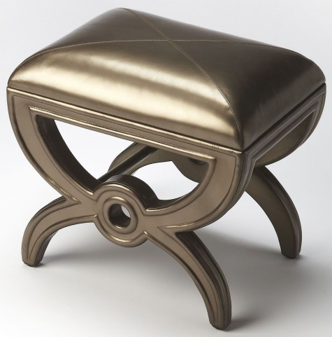Moderne Cosmopolitan Leather Vanity Stool