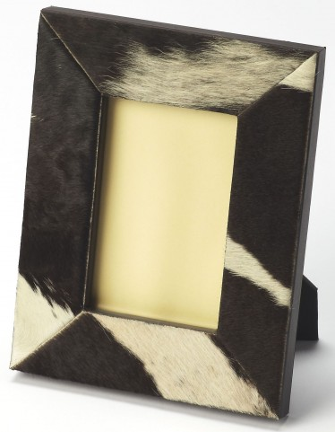 San Angelo Hair-On-Hide Black Picture Frame