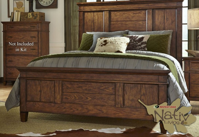 Rocky Mountain Whiskey Brown King Panel Bed