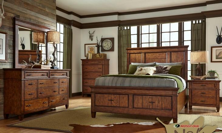 Rocky Mountain Whiskey Brown Storage Panel Bedroom Set