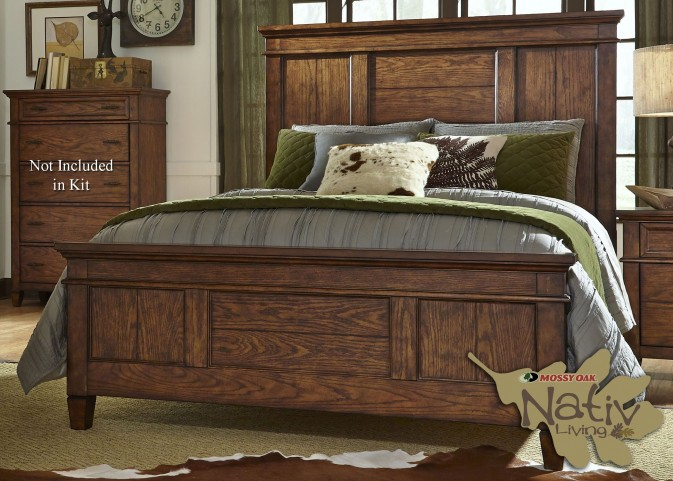 Rocky Mountain Whiskey Brown Queen Panel Bed