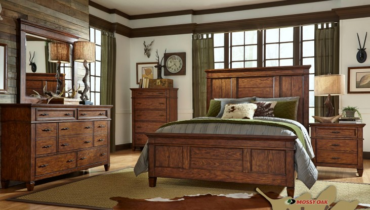 Rocky Mountain Whiskey Brown Panel Bedroom Set