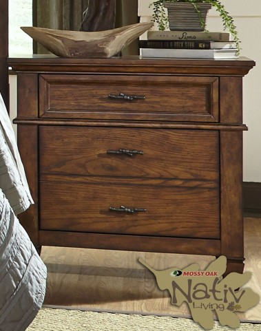 Rocky Mountain Whiskey Brown 2 Drawer Nightstand