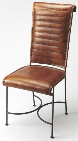 Buxton Iron & Leather Side Chair