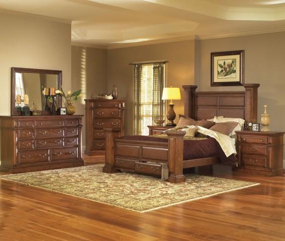 Torreon Antique Pine Panel Bedroom Set