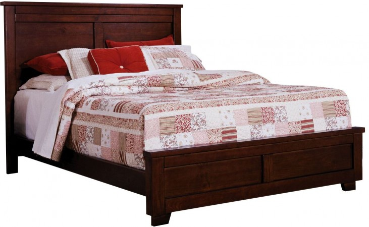 Diego Espresso Pine King Panel Bed