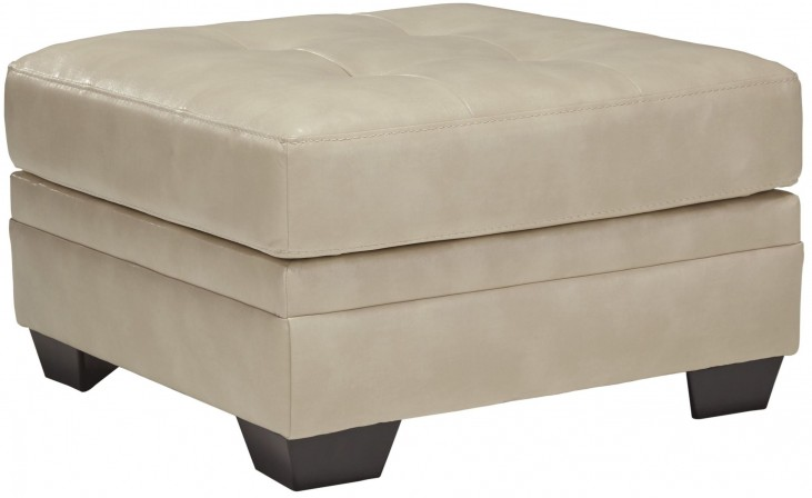 Khalil DuraBlend Taupe Oversized Accent Ottoman