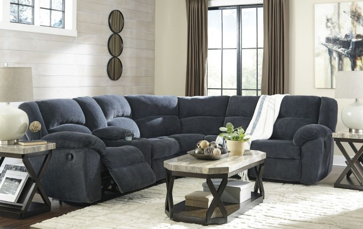 Timpson Indigo Reclining Sectional