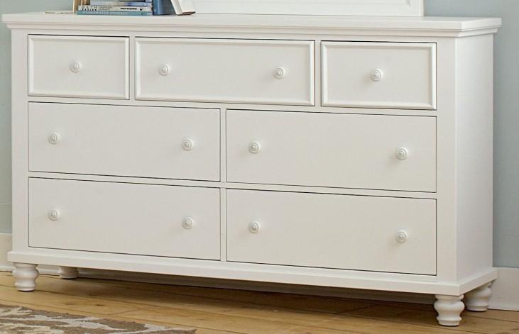 Ellington White 7 Drawer Triple Dresser
