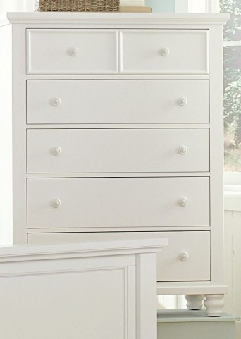 Ellington White 5 Drawer Chest