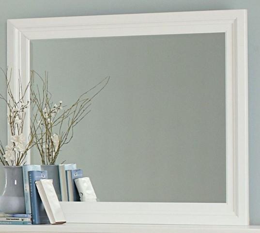 Ellington White Landscape Mirror