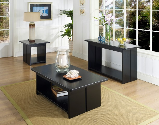 Ebony Occasional Table Set