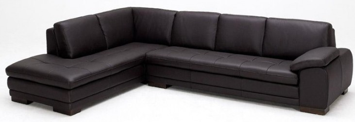 625 Brown Italian Leather LAF Sectional