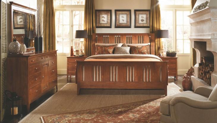 Cherry Park Sleigh Bedroom Set