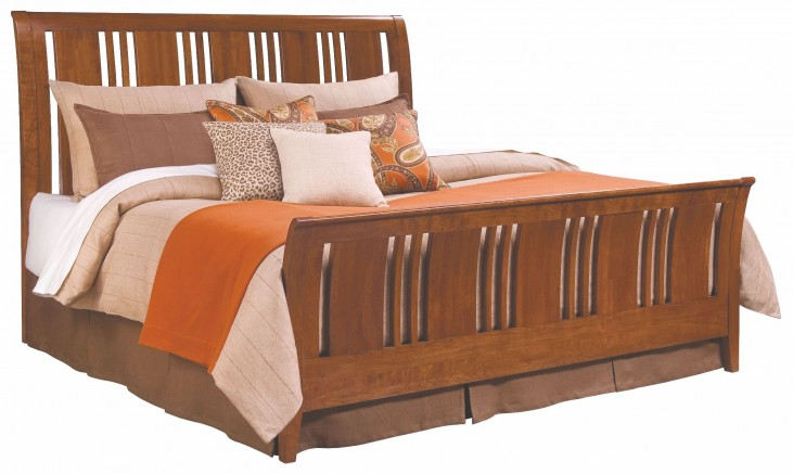Cherry Park King Sleigh Bed