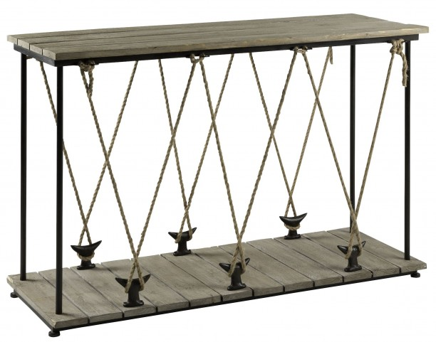 Hatteras Gray Console Table