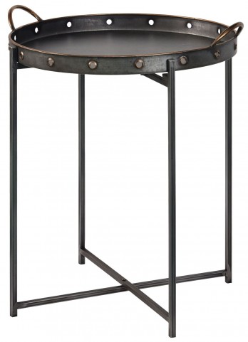 Davey Galvanized Metal Tray Table