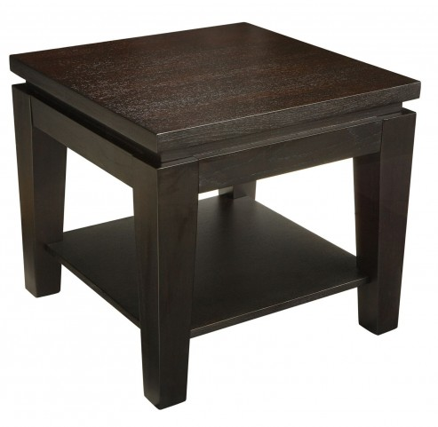 Asia Square End Table With Shelf