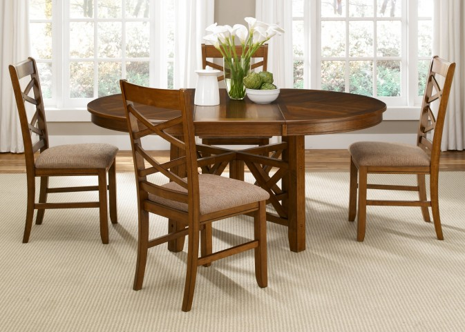 Bistro Oval Pedestal Dining Room Set
