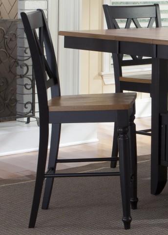 Al Fresco Black Double X Back Counter Chair Set of 2