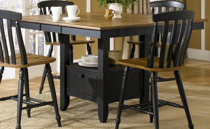 Al Fresco Black Extendable Gathering Table