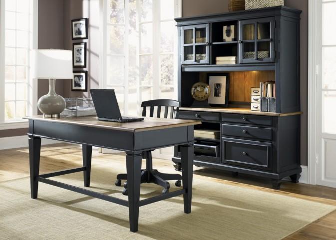 Bungalow II Black Jr Executive Home Office Set