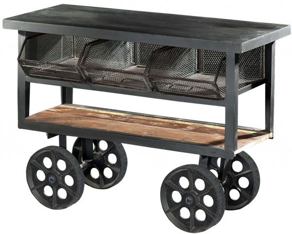 Amara Iron Kitchen Cart With Wheels