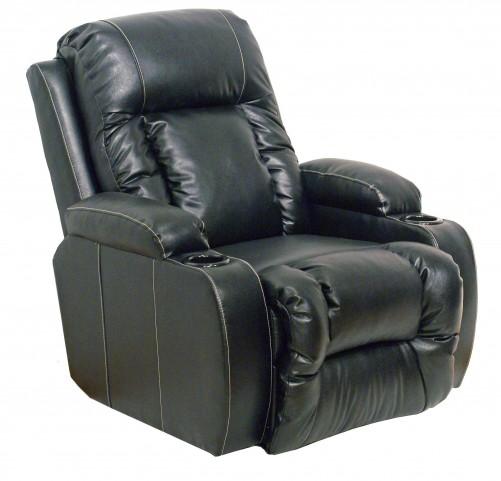 Top Gun Black Leather Inch-Away Recliner