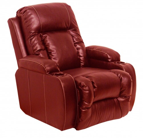 Top Gun Red Top Gun Leather Inch-Away Recliner