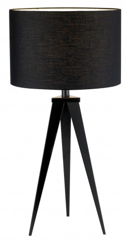 Director Black Table Lamp